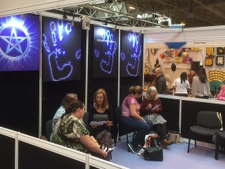 Busy Kirlian reading at the Mind body Spirit show at the NEC in Birmingham